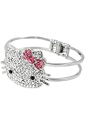 AllyDrew Kitty Crystal Bangle Bracelet