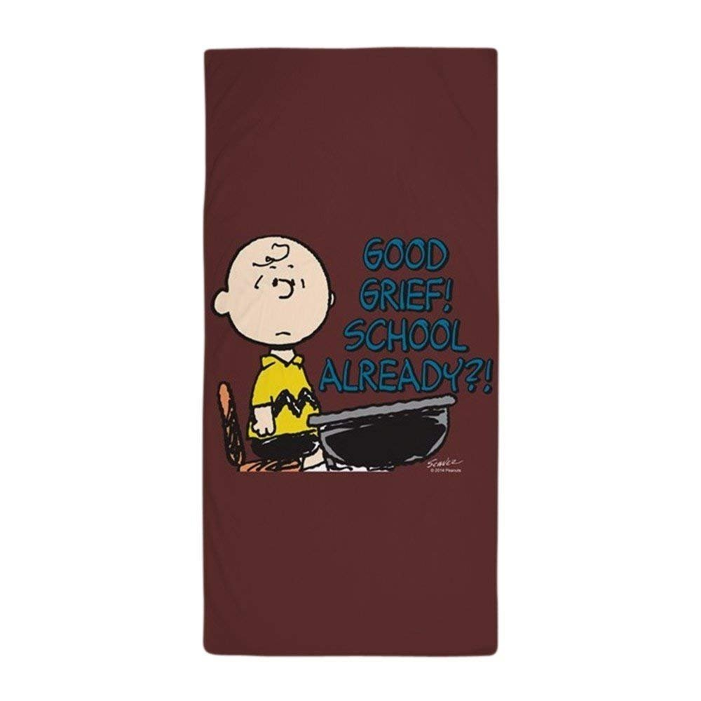 Charlie Brown - Good Grief! School Alr - Large Beach Towel, Soft 31x51 Towel with Unique Design