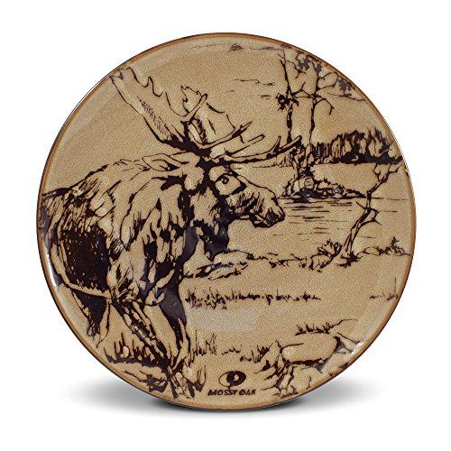Mossy Oak Animal Print Moose Dinner Plate, 11-Inch