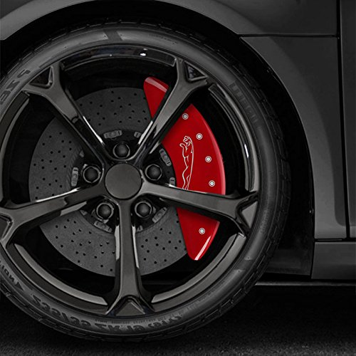 Upgrade Your Auto Red Leaper Logo Caliper Covers For 2017-2018 Jaguar F-Pace by MGP by Upgrade Your Auto
