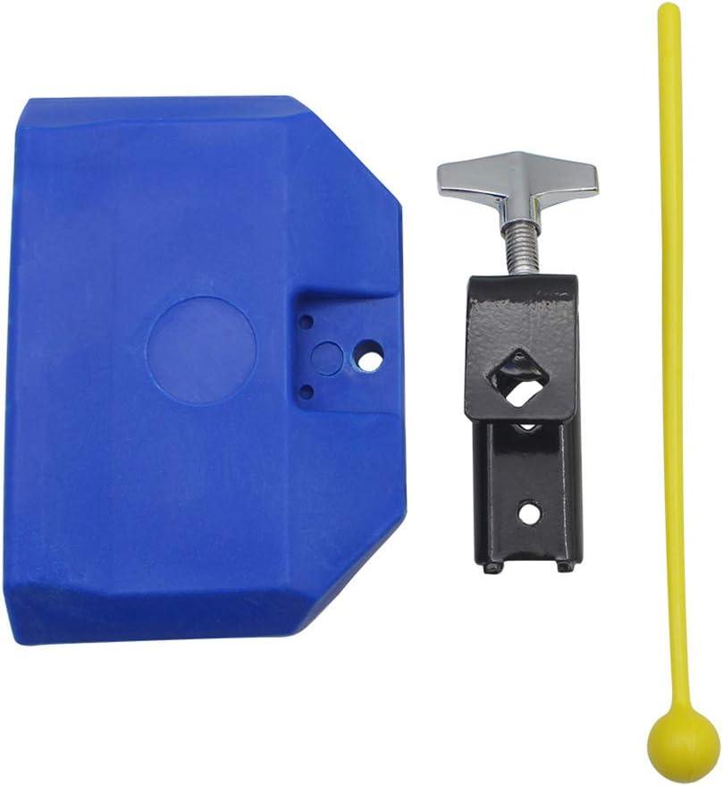 SUNSKYOO Mazo de plástico para Tambor, Bloque de percusión, Campana de Vaca, Montaje de Metal, Piezas de Accesorios de Instrumentos Musicales, Azul (Azul) - 179