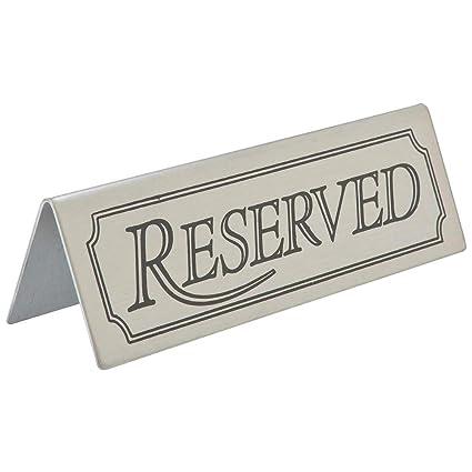 Reservado Letrero - Set de 5 Acero Inoxidable Restaurante ...
