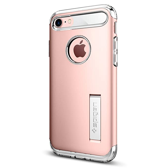 best service 210fc 7f819 Spigen Slim Armor Designed for Apple iPhone 7 (2016) / Designed for iPhone  8 Case (2017) - Rose Gold