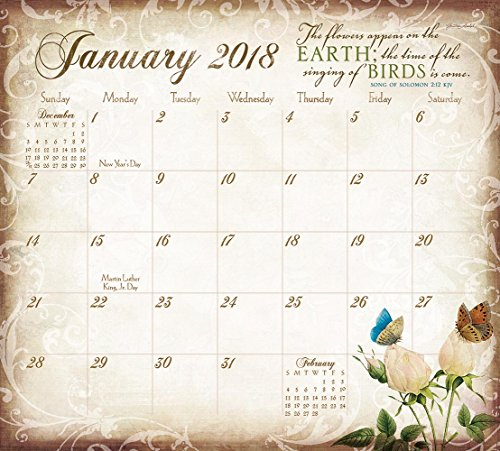Legacy Publishing Group 2018 Magnetic Calendar Pad with Scripture, Walk by Faith