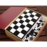 Launch Innovative Products Julita Chess, Backgammon, Checkers - Book Storage Case Classic Board Game Set with Pieces