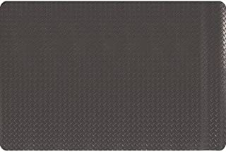 product image for Apache Mills MOI3906709003X5 - Diamond Plate Anti-Fatigue Mat - Dry, Solid Surface, Thickness: 9/16 in, Width: 3 ft, Length: 6 ft, Color Black