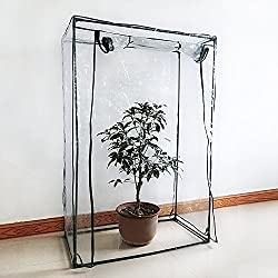 cheerfullus Large Greenhouse Cover Replacement Herb and Flower Clear Garden Plant Cover (Only Cover, Without Iron Stand, Flowerpot)
