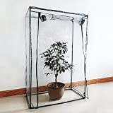 Greenhouse Mini Plant Cover Tomato Garden Tent PVC Green House Household Plant Greenhouse Cover Indoor Outdoor Portable Solution for Grow Seeds, Seedlings, Potted Plants(Cover only, no iron stand)