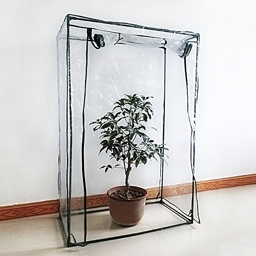 Greenhouse Mini Plant Cover Tomato Garden Tent PVC Green House Household Plant Greenhouse Cover Indoor Outdoor Portable Solution for Grow Seeds, Seedlings, Potted Plants(Cover only, no iron stand) by ZSL