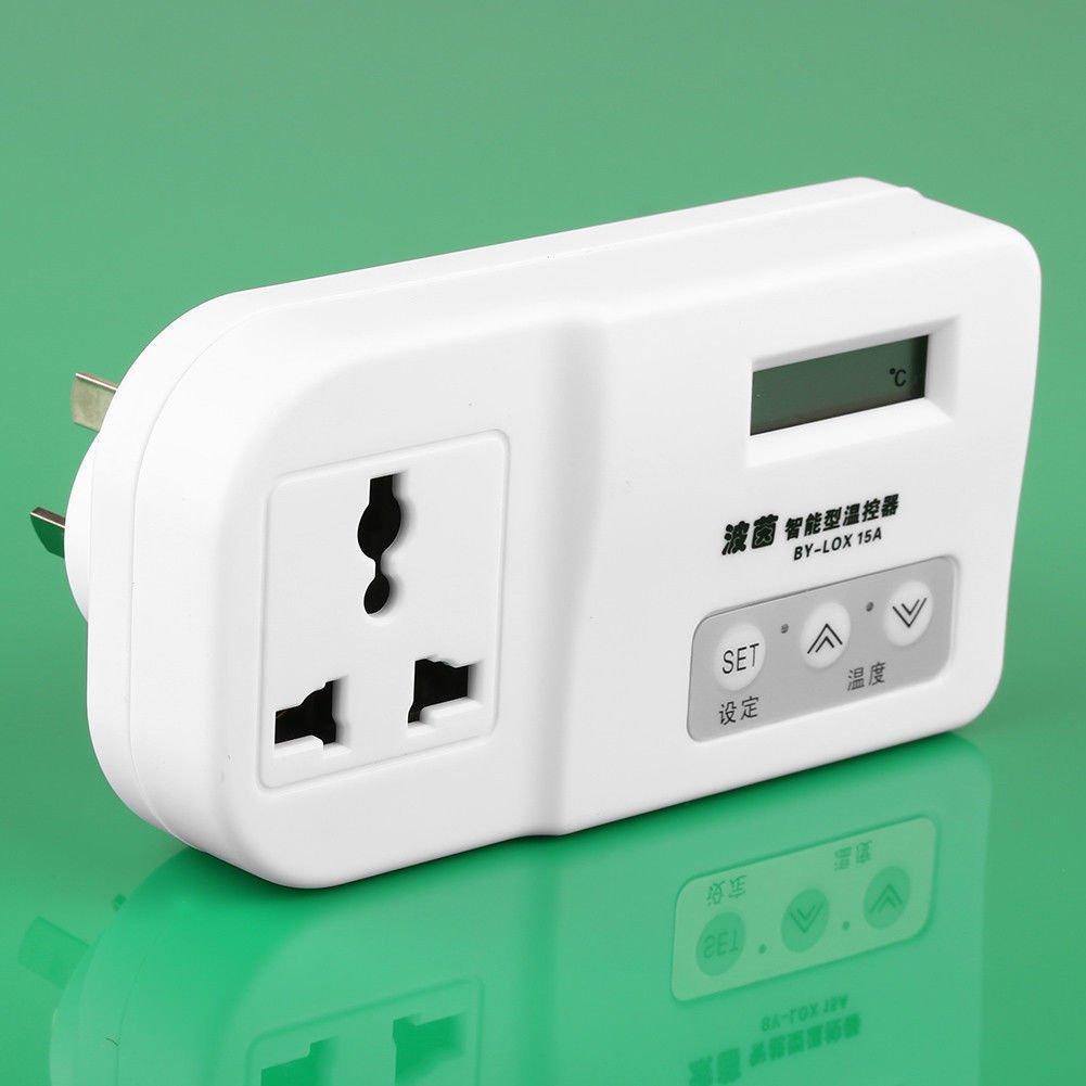 FidgetFidget Digital LCD Plug in Thermostat Temperature Controller Refrigerator Incubator