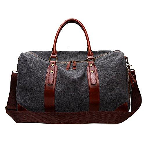 Canvas Baguette Handbag (Mn&Sue CanvasHoldalls Travel Tote Luggage Oversized Weekender Sport Duffle Bag)