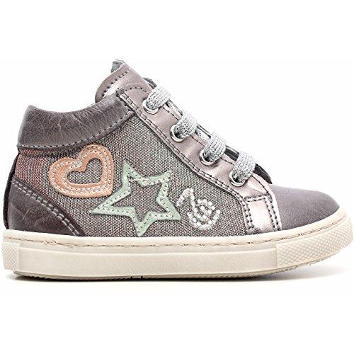 Noir paillettes Grafite pas fille Junior et Sneaker premiers a521220 en tissu cuir Grigio jardins Brandon nbsp;F r7awUr