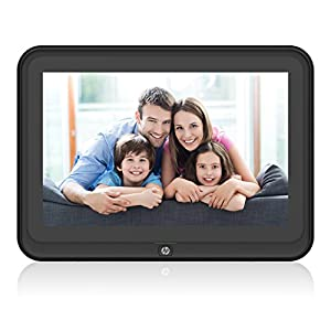 Digital Picture Frame, HP 10.1 inch WiFi Photo Frame, 1280x800 HD Display, 8GB Internal Storage, iPhone & Android App, Support Photo/Music/Video/Calendar with Built-in Speakers - Black