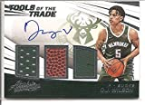 D. J. Wilson Milwaukee Bucks 2017-18 Panini Absolute Tools of the Trade Autograph / Triple Jersey Memorabilia Basketball Card #91/149