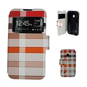 Carcasas y fundas Nokia lumia 530 P.U NOKIA LUMIA 530 caso toque tierra tiene azulejos-Camel camello