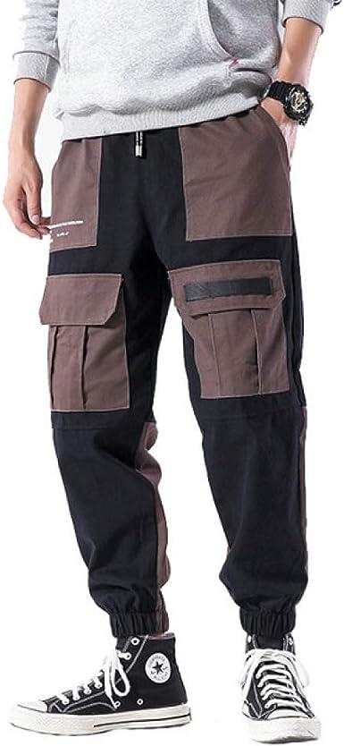 Loeay Pantalones de Combate de Carga para Hombre Pantalones de Trabajo Streetwear Pantalones de chándal Casual hasta el Tobillo Joggers de algodón Pantalones harén: Amazon.es: Ropa y accesorios
