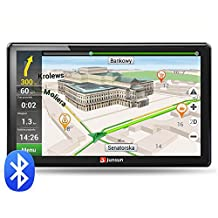 junsun 7-Inch HD Car GPS Navigation Bluetooth AVIN Capacitive screen FM 8GB/256MB Vehicle Truck GPS North America Sat nav Lifetime Map