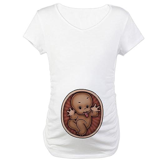 09cf83b2f3ec8 Amazon.com: CafePress Razz Baby -DS Maternity T-Shirt Maternity Tee ...