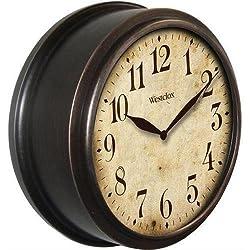 Westclox 32217B Black 10 Round Deep Dish Classic Wall Clock