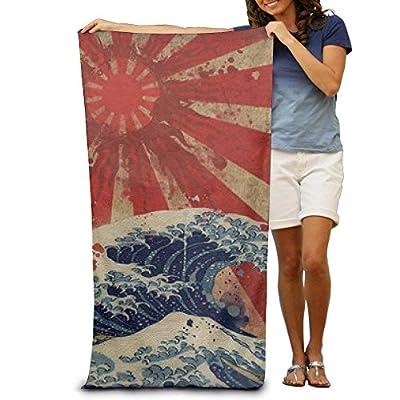 YICHIBAOEL Beach Towel Japan Rising Sun Over The Sea Microfiber Towel