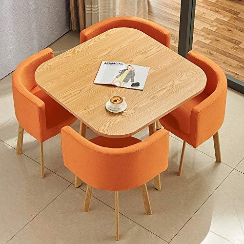 DLIBIG Conjunto Muebles Mesa + 4 Sillas Oficina Negociación Sala ...