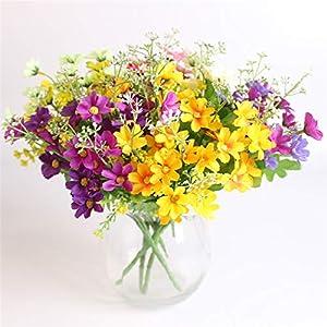 MZjJPN 7 Branch 28 Heads Cute Silk Daisy Artificial Decorative Flower Wedding Flower Bouquet Home Room Table Decoration 81