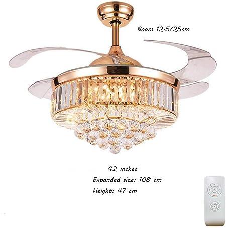 ZYC-WF Candelabro , Lámpara de cristal con ventilador de techo de ...