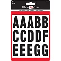 The Hillman Group 842282 2-Inch Letters Kit, Black/White by The Hillman Group