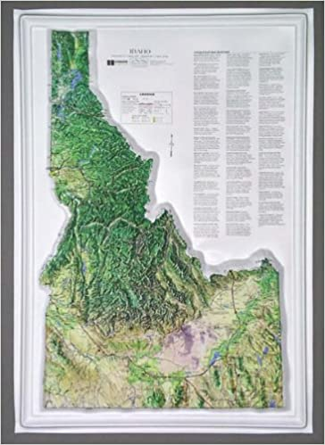 Idaho Raised Relief Map: Hubbard Scientific: Amazon.com: Books