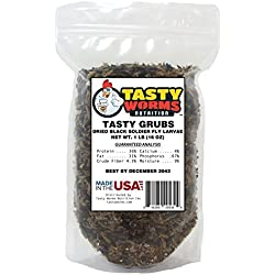 1lb Tasty Grubs Dried Black Soldier Fly Larvae Bag Made in USA