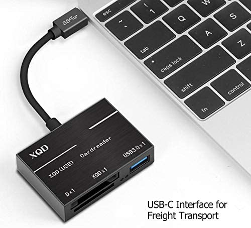 4 Ports USB3.0 HUB Memory Card Reader Adapter Type C to XQD Card High Speed 500MB//S Portable Converters for Laoptop Computer