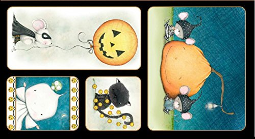 Quilting Treasures Halloween Fabric (Quilting Treasures 'Charmed' Halloween Picture Patch Panel Cotton)