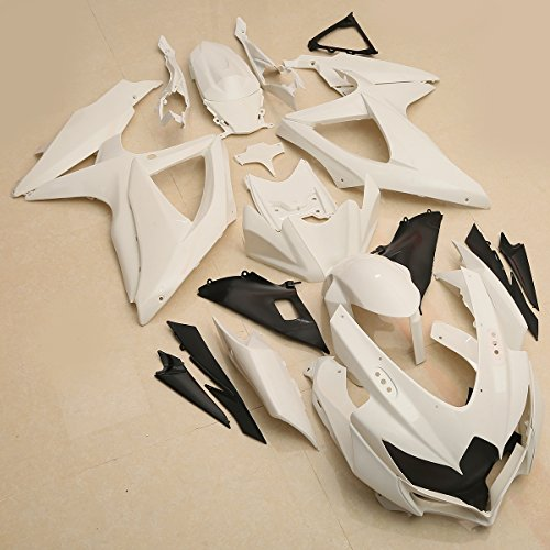 XFMT ABS Body Work Fairing Kit Compatible with Suzuki GSXR 600 GSXR750 2008-2010 2009 Unpainted