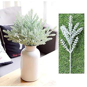 SHACOS 12PCS Artificial Flocked Rabbit Ear Leaf,Fake Greenery Bouquet for Home Décor Wedding,DIY Craft for Floral Arrangement 2