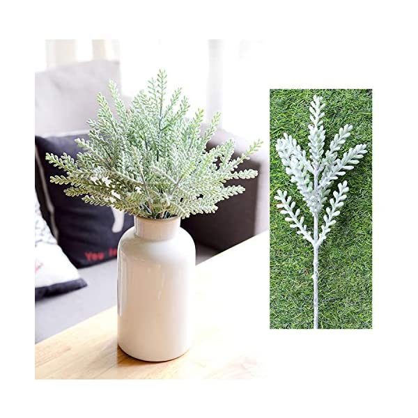 SHACOS-12PCS-Artificial-Flocked-Rabbit-Ear-LeafFake-Greenery-Bouquet-for-Home-Dcor-WeddingDIY-Craft-for-Floral-Arrangement