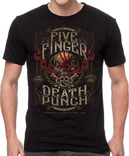 H3 SPORTSWEAR Five Finger Death Punch 100 Proof XL Black