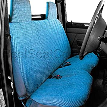 Admirable Realseatcovers For Front Bench A25 Triple Stitched Molded Headrests Seat Belt Cutout Small 2 To 3 Shifter Cutout Seat Cover For Toyota Pickup Blue Ibusinesslaw Wood Chair Design Ideas Ibusinesslaworg