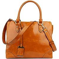 Yafeige Women's Vintage Leather Designer Handbags Shoulder Bag Top-handle Tote Cross Body Bag