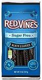 Red Vines Black Licorice Sugar Free Vines - 5 oz. bag, 12 per case