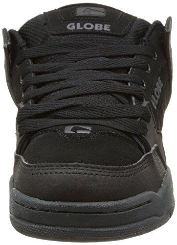 Globe Tilt Negro Gris Hombres Suede Skate Zapatos Botas