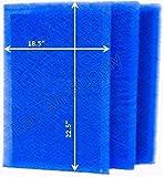 RayAir Supply 20x25 PureAiRx Air Cleaner Replacement Filter Pads 20x25 Refills (3 Pack) Blue