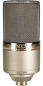 MXL 990 Condenser Microphone with Shockmount (MXL 990 Heritage Edition)