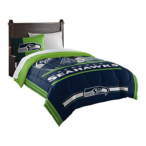(Officially Licensed NFL Seattle Seahawks Safety Twin Comforter and)