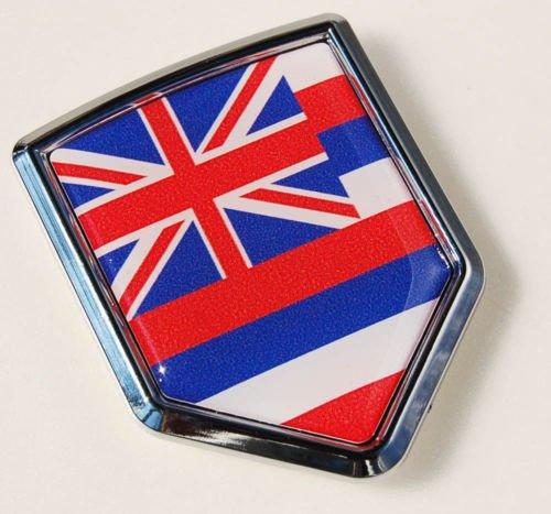 Car Chrome Decals CBSHD300HAW Hawaii Flag Hawaiian Car Chrome 3D Emblem Decal Sticker