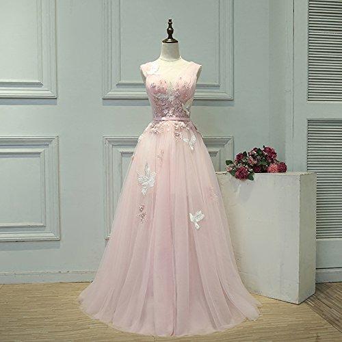 Goddess 8 La Robe Du Robe Soir V Nouvelles Banquet De Rose Mariée 4 Partie Dentelle COU Appliques De Longue Sun Robe Robe Doux En 1wq4Hp1dWa