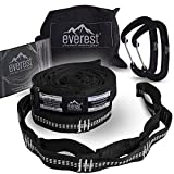 Hammock Straps - Everest | Tree Saver Straps & Aluminum Carabiners Lightweight Triple Stitch Extra Strong No Stretch Polyester Adjustable 14 Loop Suspension System 10 ft Long - Ultra Fine Tune