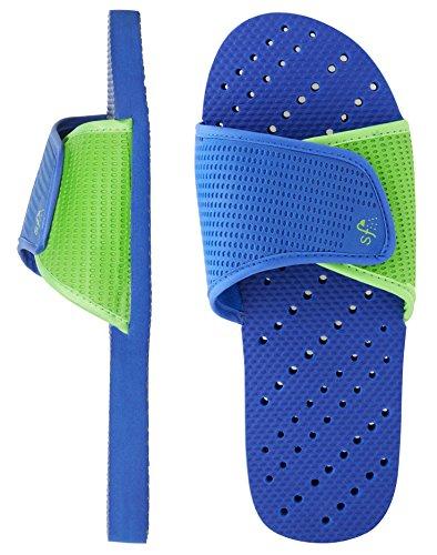 Boys Antimicrobial Royal amp; 'foam Blue Shower Showaflops Water Piscina green Per Big Sandali BHqwAxS5n