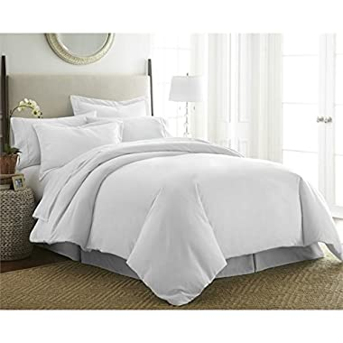 Beckham Hotel Collection Luxury Soft Brushed 1800 Series Microfiber Duvet Cover Set - Hypoallergenic - Twin/TwinXL, White