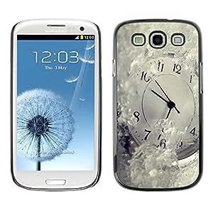 Caucho caso de Shell duro de la cubierta de accesorios de protección BY RAYDREAMMM - Samsung Galaxy S3 I9300 - Time Metaphor Winter Snow White Ticking