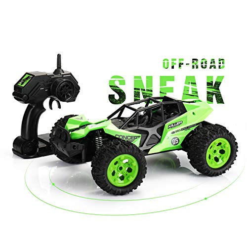 SainSmart Jr. RC Car 1:12 Scale Off-Road Remote Control 2.4GHz 4WD RC Vehicles 25KM/h High Speed Racing Car Electric Toy for Kids, Green ()